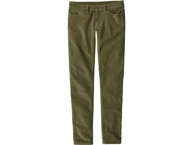 Patagonia Fitted Corduroy Pants Women Fatigue Green